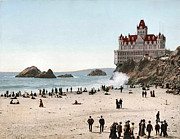 Bathers Digital Art Framed Prints - San Francisco Cliff House 1902 Framed Print by Unknown