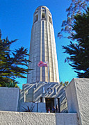 San Francisco - Coit Tower - 03 Print by Gregory Dyer