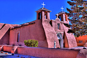 Pueblo De Taos Acrylic Prints - San Francisco de Asis Mission Church Acrylic Print by David Patterson