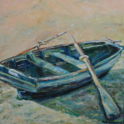 Blues Painting Originals - San Francisco Dinghy by Susie Jernigan