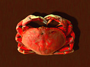 Boiled Crawfish Framed Prints - San Francisco Dungeness Crab - Painterly Framed Print by Wingsdomain Art and Photography