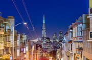 San Francisco Cali Prints - San Francisco Dusk Skyline Photograph  Print by Traveling Photographs Dave Gordon