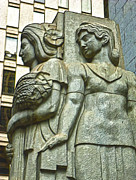 San Francisco - Financial District Statue - 05 Print by Gregory Dyer