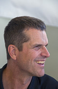 Football Coach Photos - San Francisco Forty Niners Coach Jim Harbaugh by Scott Lenhart