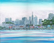 Sausalito Painting Posters - San Francisco From Sausalito Poster by Harlan Gilbert
