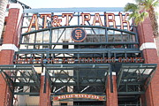 Stadiums Framed Prints - San Francisco Giants ATT Park Willie Mays Entrance . 7D7635 Framed Print by Wingsdomain Art and Photography