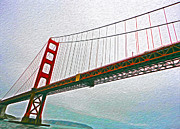 San Francisco - Golden Gate Bridge - 01 Print by Gregory Dyer