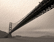 San Francisco - Golden Gate Bridge - 05 Print by Gregory Dyer