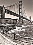 San Francisco - Golden Gate Bridge - 10 Print by Gregory Dyer