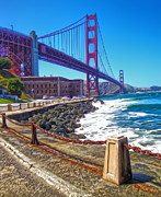 San Francisco - Golden Gate Bridge - 12 Print by Gregory Dyer
