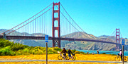 San Francisco - Golden Gate Bridge - 13 Print by Gregory Dyer