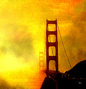 Golden Gate Mixed Media - San Francisco Golden Gate Bridge Commute in Sun and Fog by Douglas MooreZart