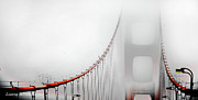 Artist and Photographer Laura Wrede - San Francisco Golden Gate Bridge in the Fog