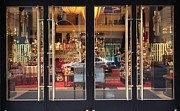 Fashion Window Framed Prints - San Francisco Gumps Store Doors - 5D20585 Framed Print by Wingsdomain Art and Photography
