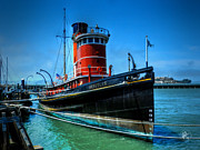 San Francisco Cali Prints - San Francisco - Hyde Street Pier - Hercules Print by Lance Vaughn