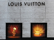 Posh Framed Prints - San Francisco Louis Vuitton Storefront - 5D20546-2 Framed Print by Wingsdomain Art and Photography