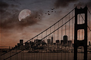 Photomanipulation Digital Art Prints - San Francisco Print by Marie  Gale