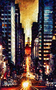 Street Lights Prints - San Francisco Print by Mo T