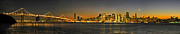 San Francisco Bay Prints - San Francisco Nightscape Print by Keith Marsh