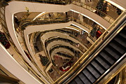 Escalator Metal Prints - San Francisco Nordstrom Department Store - 5D20639 Metal Print by Wingsdomain Art and Photography