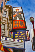 Big Al Framed Prints - San Francisco - North Beach - 04 Framed Print by Gregory Dyer