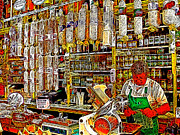 Sausages Framed Prints - San Francisco North Beach Deli 20130505v1 Framed Print by Wingsdomain Art and Photography