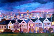 Alamo Square Framed Prints - San Francisco - Painted Ladies - Alamo Sq Framed Print by M Bleichner