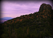 Prescott Photos - San Francisco Peaks and Thumb Butte by Aaron Burrows