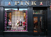 Posh Framed Prints - San Francisco Pink Storefront - 5D20565 Framed Print by Wingsdomain Art and Photography