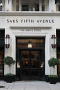 Posh Photo Framed Prints - San Francisco Saks Fifth Avenue Store Doors - 5D20574 Framed Print by Wingsdomain Art and Photography