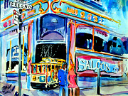 Trolley Paintings - San Francisco Saloon Trolley by John Dunn