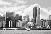Wingsdomain Art and Photography - San Francisco Skyline Along The Embarcadero 5D29399 black and white