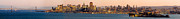 China Cove Prints - San Francisco Skyline Angel Island California View - Panorama Print by David Rigg
