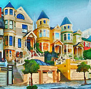 Live Art Framed Prints - San Francisco Streets 2 Framed Print by Yury Malkov