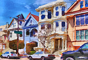 Live Art Framed Prints - San Francisco Streets 3 Framed Print by Yury Malkov