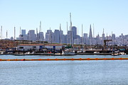 Sail Boats Posters - San Francisco Through The Treasure Isle Marina 5D25367 Poster by Wingsdomain Art and Photography