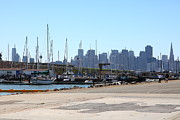 Sail Boats Prints - San Francisco Through The Treasure Isle Marina 5D25369 Print by Wingsdomain Art and Photography