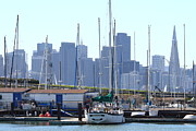 Sail Boats Prints - San Francisco Through The Treasure Isle Marina 7D25458 Print by Wingsdomain Art and Photography