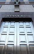 Posh Photo Framed Prints - San Francisco Tiffany and Company Store Doors - 5D20562 Framed Print by Wingsdomain Art and Photography