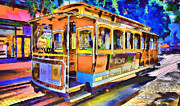 Live Art Digital Art Prints - San Francisco Trams 1 Print by Yury Malkov