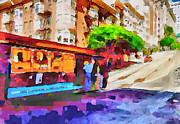 Live Art Digital Art Prints - San Francisco Trams 10 Print by Yury Malkov