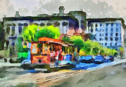 Live Art Digital Art Prints - San Francisco Trams 8 Print by Yury Malkov