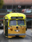 Fisherman Digital Art - San Francisco Trolley Car by Mike McGlothlen