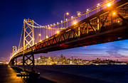 Suspension Bridge Metal Prints - San Francisco - Under the Bay Metal Print by Alexis Birkill
