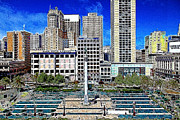 Lane Digital Art - San Francisco Union Square 5D17938 Artwork by Wingsdomain Art and Photography