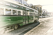 Traffic Stop Prints - San Francisco Vintage Tram Print by Erik Brede