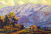 Roads Paintings - San Gabriel Mountains by