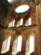 Iconic Design Prints - San Galgano Print by Angela Wright