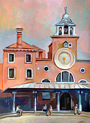 Buildings Mixed Media Originals - San Giacomo di Rialto by Filip Mihail