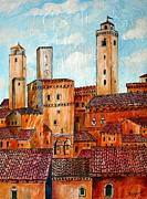 Toscana Paintings - San Gimignano by Roberto Gagliardi